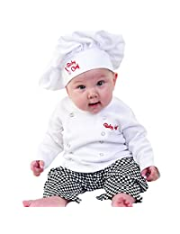 Baby Aspen Big Dreamzzz Baby Chef Layette Set with Gift Box, White, 0-6 Months