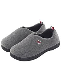 ULTRAIDEAS Women's Slip on Polar Fleece Lined Cotton Slippers Anti-Slid Indoor & Outdoor House Loafers Shoes