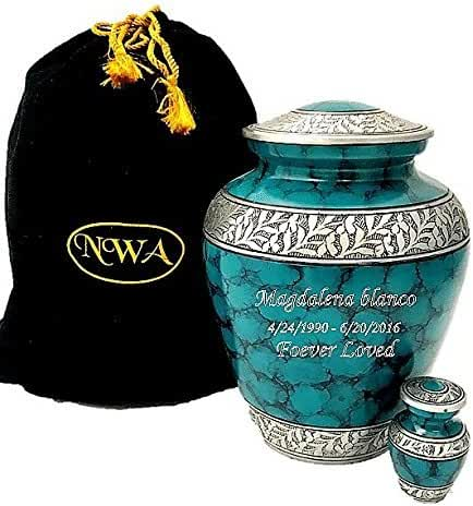 Customized Adult Cremation Urn Beautiful Funeral Urns with Keepsake and Personalisation