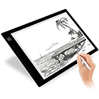 Tracing Light Box, Elongdi A4 size Brightness Adjustable Portable Light Table Light Pad for Tracing, Drawing, Sketching, Animation, Artists (9.4x14 Inch)