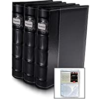 Black DVD Organization Binders 3 Pack - Holds 176 Discs (w/extra inserts)