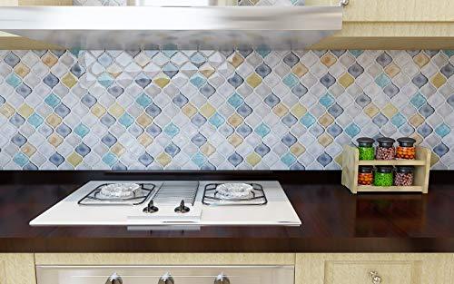 hue decoration peel and stick decorative tile arabesque design modern white turquoise smart tiles stick on backsplash tiles for kitchen bathroom