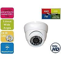 Evertech CDM268SN V.7 W Metal Case CCTV Security Camera - 700 TVL, Day Night Vision Ir Home Security Camera Wide Angle Lens