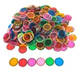 Bingo Transparent Chips 300-pk - Assorted Colors