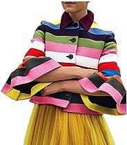 Women Graduation Dress Coats Office Work Knit Suit Jacket Tunic Tops Lapel Button Down Outerwear Blazer Shirts