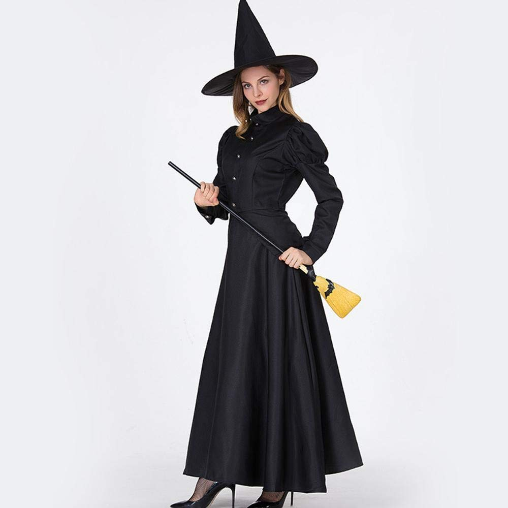 XL Olydmsky Halloween Costumes Women Halloween Witch Costume Polyester Cosplay Magic Girl Game Suit