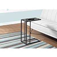 Monarch Metal/Tempered Glass Accent Table, Black