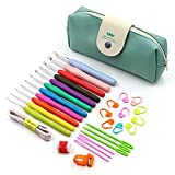 Sumnacon 30 pcs Crochet Hooks Yarn Knitting Needles Sewing Tools Set - 11 Crochet Hooks 2~ 8 mm with Comfort Soft Rubber Grip, 19 Crochet Accessories, Great Gifts for Crochet Lovers