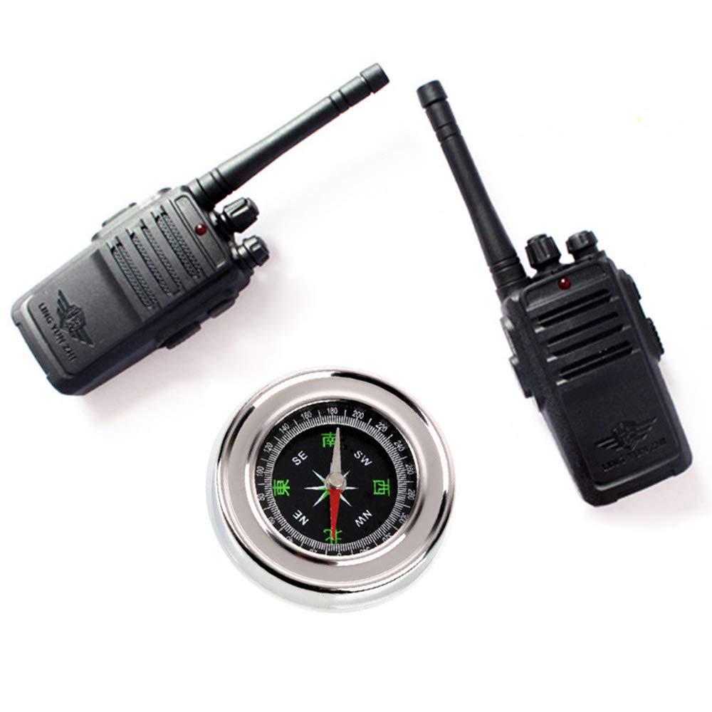 CAR SHUN Walkie Talkie con Il binocolo per i Bambini-Voice attivato Talkie walkie per Ragazzi o Ragazze, Set,compasssuit