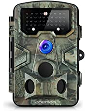 APEMAN Trail Camera 12MP 1080P Great Waterproof Hunting & Wildlife Camera with 120° Wide Angle 42 Pcs IR LEDs Night Version up to 20M/65FT