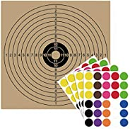 Pop Resin 100 Pack - Air Shot Paper Targets - 5.5 by 5.5 - Fits Gamo Cone Traps and Metal Box BB Catcher Targe