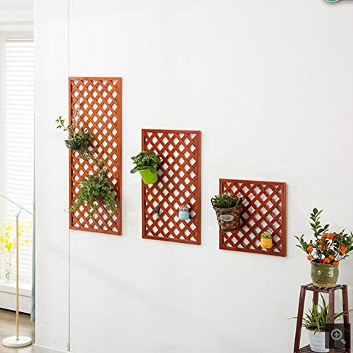JKL, Supporto Creativo per Fiori da Appendere alla Parete, per recinzioni, recinzioni, pareti in Rattan, bambù, Reticolo, arancia, 120cm50cm