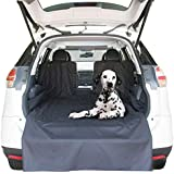 """Kululu Cargo Liner for SUV's and Cars, Protects Cargo Area, Original Design You Can See Your Pet & Your Pet Sees You with The Clearview Window-Keeps Your Pet Calm-62""""X 55""""+20"""""""