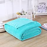 Candy Color Flannel Bed Blanket Sheet Extra Soft Warm Plush Easy Care Lightweight Fluffy Bedding Blankets for Kid Children Teen Boy Girl Bedroom
