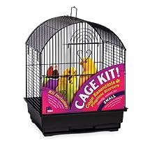 Prevue Hendryx Round Roof Bird Cage Kit, Black