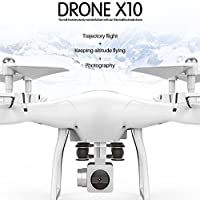 RC Drone with Camera, Anyren X10 2.4Ghz Quadcopter Camera WIFI FPV Headless Mode Altitude Hold RC Drone for Kids Gift (White)