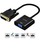 DVI to VGA Adapter,GANA 1080p Active DVI-D to VGA Adapter Converter 24+1 Male to Female Supporting 60Hz and 3D for DVI Systems to Connect to VGA displays