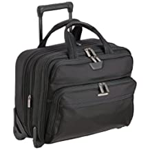 Briggs & Riley Luggage Expandable Rolling Brief, Black, One Size