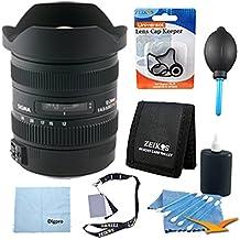 Sigma 12-24mm f/4.5-5.6 AF II DG HSM Lens for Canon Digital SLRs w/ Cleaning Kit, Microfiber Cleaning Cloth, Dust Removal System, Tri-fold Memory Card Wallet, Flash Bracket, Lens Cap Keeper