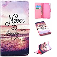 Sony Xperia Z5 Case,Ngift [Never Stop Dreaming] [Wallet S] [Kickstand Feature] Premium Wallet PU Leather Folio Wallet Flip Case Cover for Sony Xperia Z5 Case