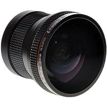 Opteka HD2 0.20X Professional AF Fisheye Lens for Canon EOS 70D, 60D, 60Da, 50D, 40D, 30D, 7D, 6D, 5D, 5Ds, 1Ds, Rebel T6s, T6i, T5i, T5, T4i, T3i, T3, T2i, T1i, XS, XSi, XTi & SL1 Digital SLR Cameras