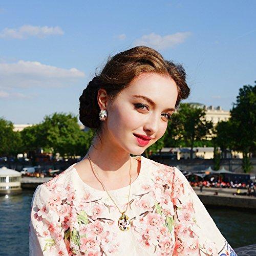 Kami Idea Donna Set di Gioielli Collana Orecchini Primavera di Versailles Smalto a Farfalla Cristalli di Preciosa Regali per Le Madri Gioielli per Compleanno Anniversario San Valentino Moglie Nonna