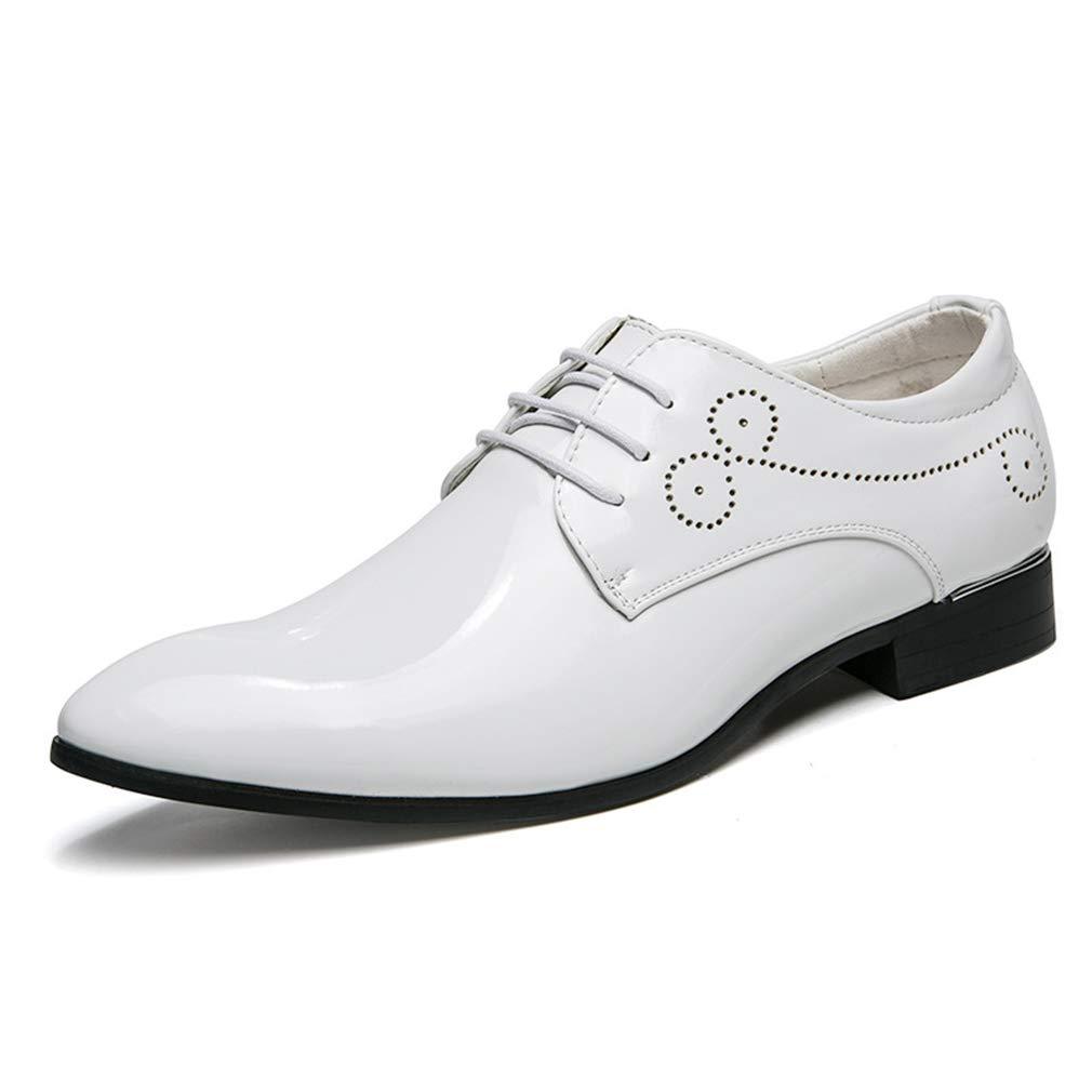 Zapatos para Hombre Zapatos con Cordones de fijación Superior de Cuero con punzón Transpirable Otoño e Invierno Fiesta y Noche Informal YAN 44 EU|Un