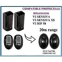V2 RIF50, V2 SENSIVA, V2 SENSIVA XS Universal Compatible infrared photocells 12-24V, with 20m range!