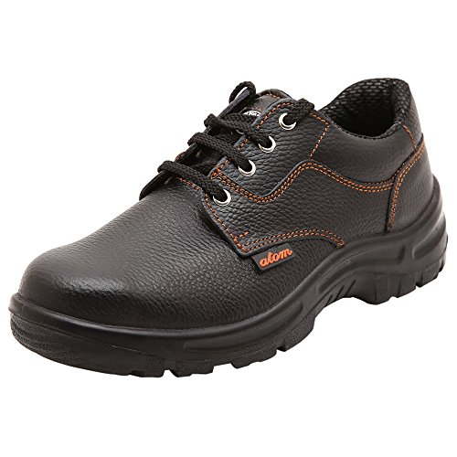 ACME Atom Genuine Leather Black Safety Shoes for Men 10
