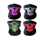 C&L Breathable Seamless Tube Skull Face Mask Dust-proof Windproof Motorcycle Bicycle Bike Face Mask for Cycling Hiking Camping Climbing Fishing Hunting Motorcycling (1 SET)