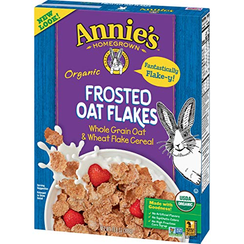 Annie's Organic Cereal, Frosted Oat Flakes, Whole Grain Cereal, 10.8 oz (Pack of ()