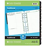 Day-Timer 2019 Monthly Planner Refill, 8-1/2'' x 11'', Folio Size 5, Two Pages Per Day, Loose Leaf, Classic (94010)