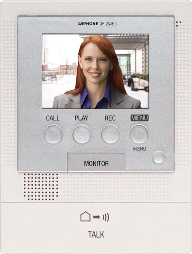 Aiphone JF-2MED Master Station for JF Series Audio/Video Intercom System, For Up to Two Door and Two Sub-Master Stations