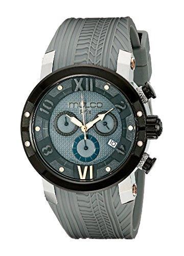 MULCO Men's MW5-3219-425 Prix Tire Analog Display Swiss Quartz Grey Watch