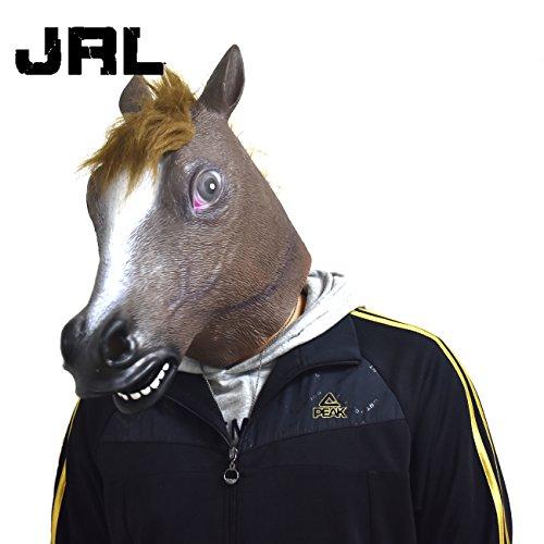 JRL Horse Head Mask Latex Animal Costume Prop Gangnam Style Toys Party Halloween