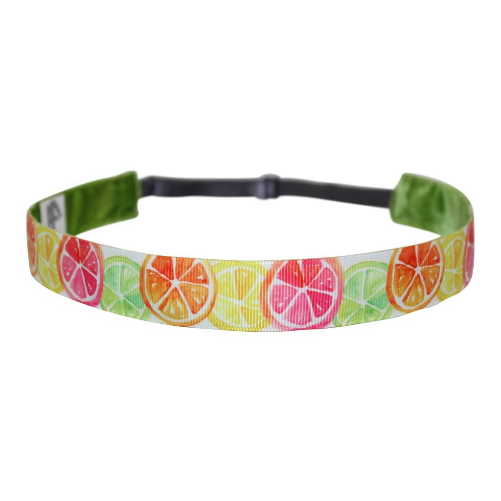BEACHGIRL Bands Headband For Women & Girls Non-Slip Adjustable Sport Hairband Watercolor Citrus by BEACHGIRL