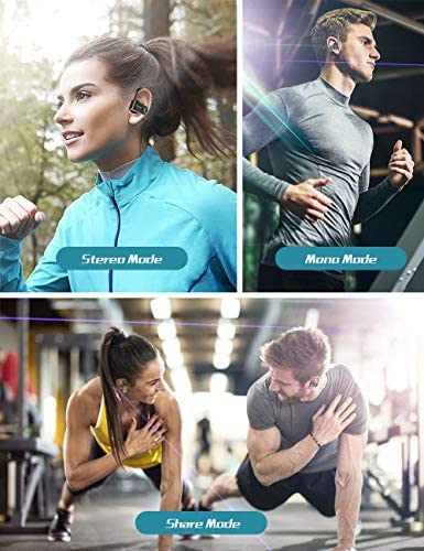 Bluetooth Headphones, Spidoc 5.0 Auto Pairing Deep Bass HiFi Stereo Sound True Wireless Earbuds in Ear Bluetooth Earphones Binaural Call Headset with Built in Mic and Charging Case for Sports Running