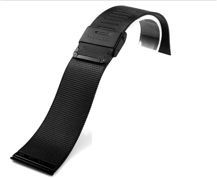 iPM Luxury Stainless Steel Tight Mesh Strap for 42mm Apple Watch - Black