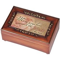 Woodgrain Rose Gift Music Jewelry Box
