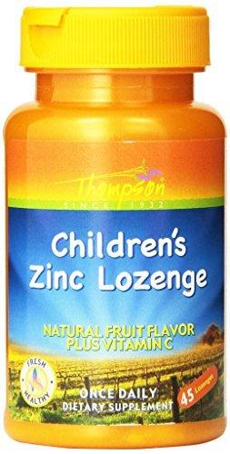 Thompson Children's Zinc Lozenges with Natural Fruit Flavor Plus Vitamin C, 5 Mg, 45Lozenges by Thompson