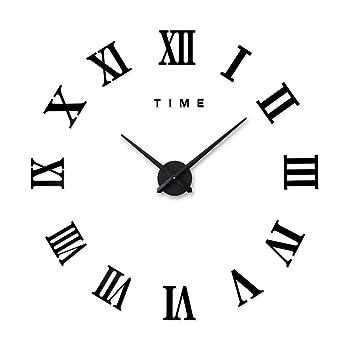 Amazon De Diy Wanduhr Moderne Clock 3d Acryl Gross Wandtattoo Uhr