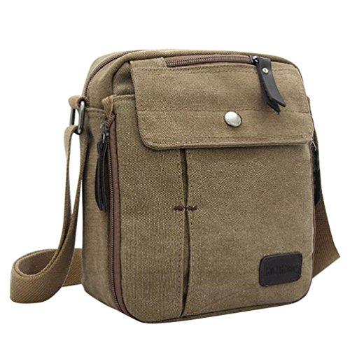 Bandolera Baymate Messenger De De Bag Lona Tela Bolso marrón Unisexo EE1qg7P