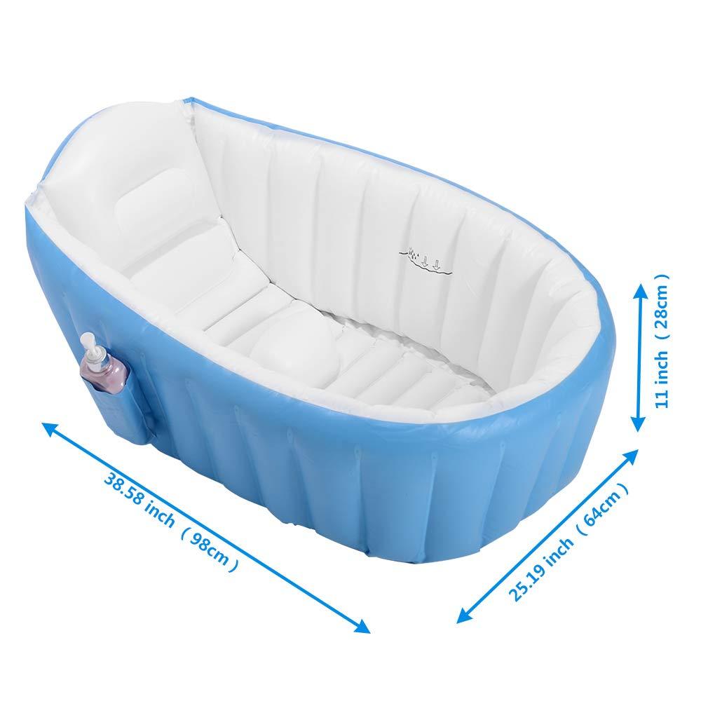 Amazon.com: EOSAGA - Bañera inflable para bebé, portátil ...