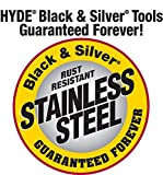 Hyde Tools 01340 3-Inch Stainless Steel Flex Joint Knife, Black and Silver