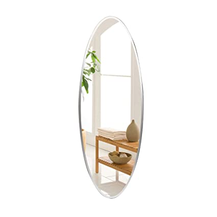 Decorative Full Length Mirror.Amazon Com Wall Mounted Mirror Oval Frameless Full Length
