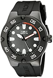 Invicta Watches Mens Pro Diver Black Silicone Band Watch