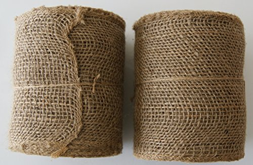 - Burlap Ribbon Roll - 5.5
