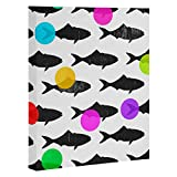 Deny Designs  Elisabeth Fredriksson, Happy Fish , Art Canvas , Large, 24'' x 30''
