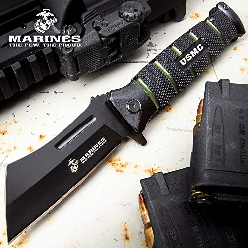 United Cutlery USMC Combat Cleaver Assisted Opening Pocket Knife