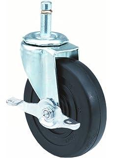 Plain Bearing 5 Wheel Dia 3//8-16 Stem Dia E.R Wagner Stem Caster 1 Stem Height Swivel 280 lbs Capacity Polyolefin Wheel 1-1//4 Wheel Width 5-1//2 Mount Height